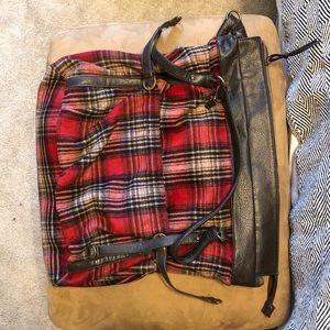 Handbags - Plaid messenger book bag urban outfitters